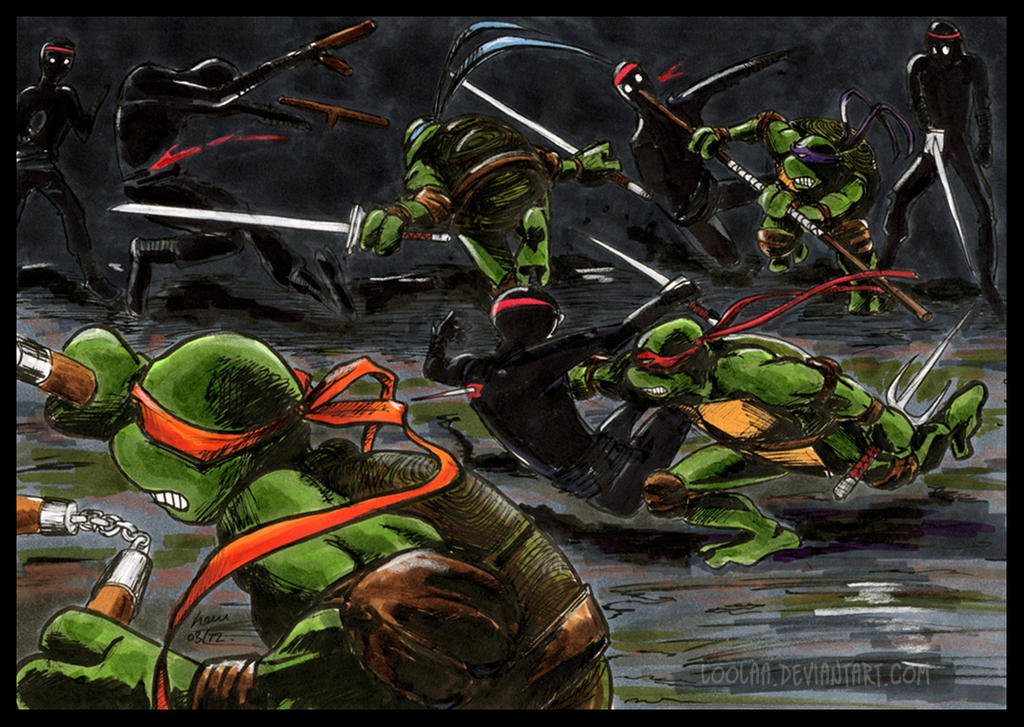 TMNT: Fighty Fight Fight by loolaa