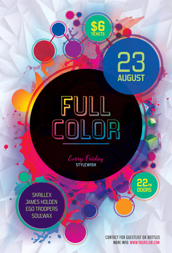 full color flyer by stylewish on deviantart
