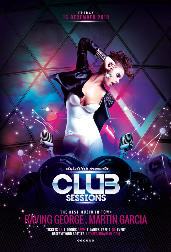 club sessions flyer by stylewish