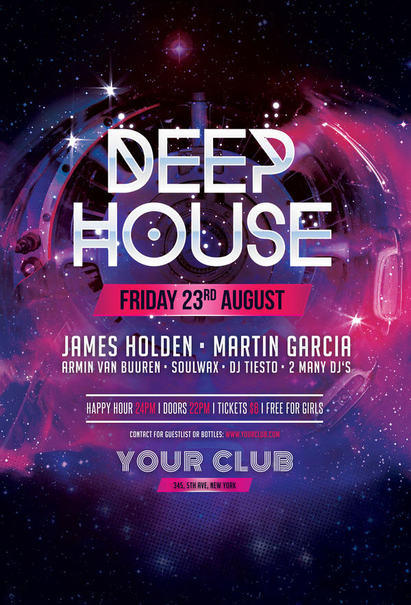 Free Deep House Party Flyer Template By Stylewish On Deviantart