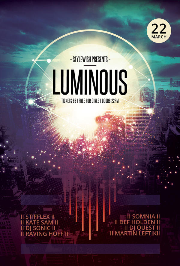 luminous flyer by stylewish