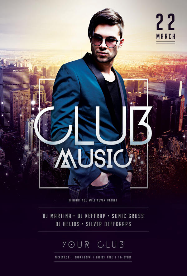 Exceptional Club Music Flyer By StyleWish ...