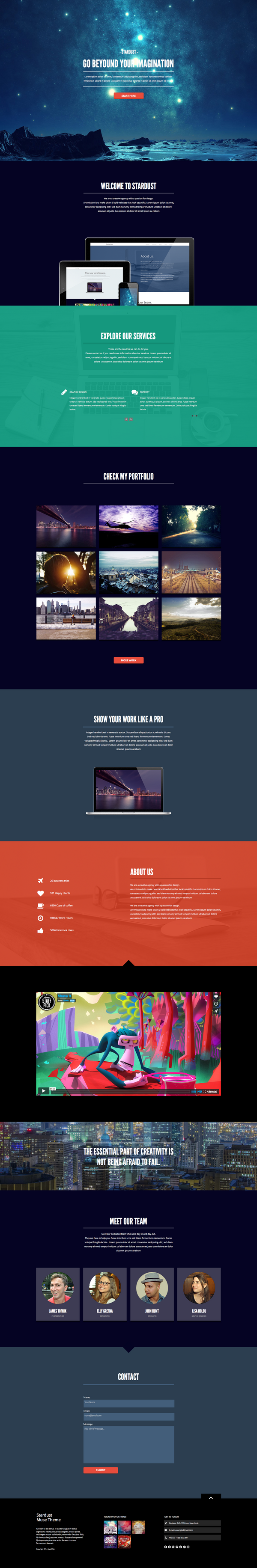 Stardust - One Page Muse Theme by styleWish