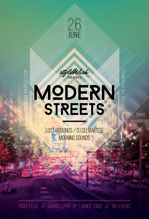 Modern Streets Flyer by styleWish