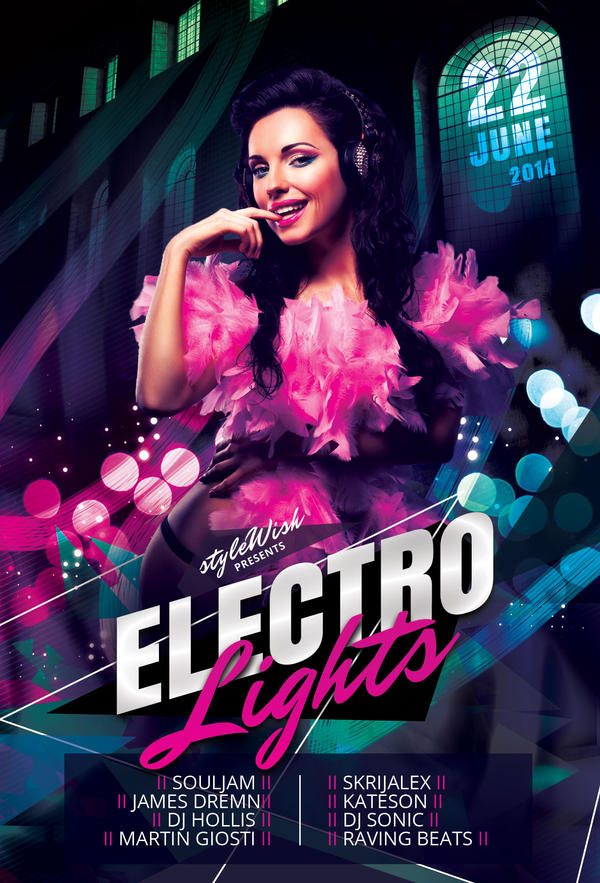 Electro Lights Flyer