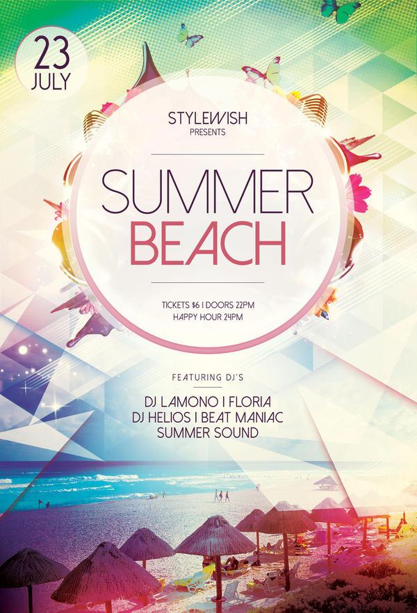 summer beach flyer by stylewish on deviantart
