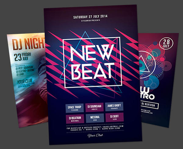 Electro Party Flyer Bundle Vol By Stylewish On Deviantart