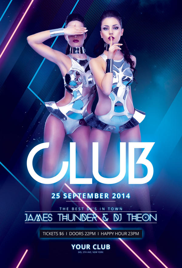 Club Flyer Free Luxury Party Club Flyer Psd Template Http – Night Club Flyer