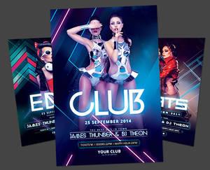 Electro Club Flyer Bundle