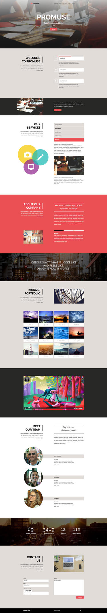 Promuse - One Page Muse Template by styleWish