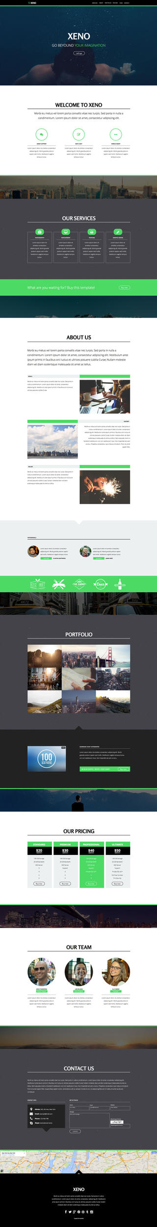 Xeno - One Page Muse Template by styleWish