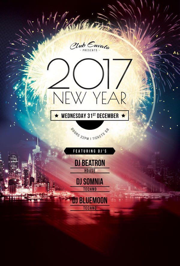 2017 New Year Flyer