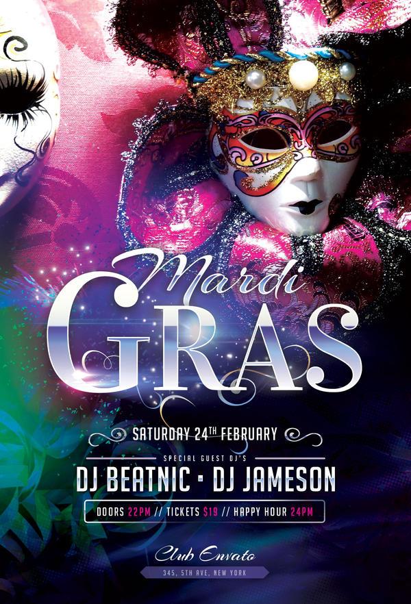 Mardi Gras Flyer By Stylewish On Deviantart