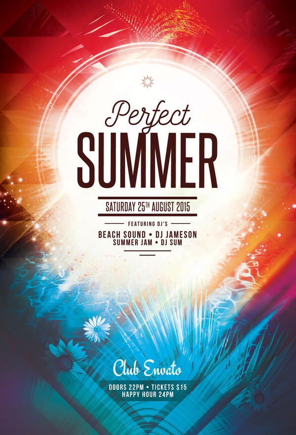Perfect Summer Flyer By Stylewish On Deviantart