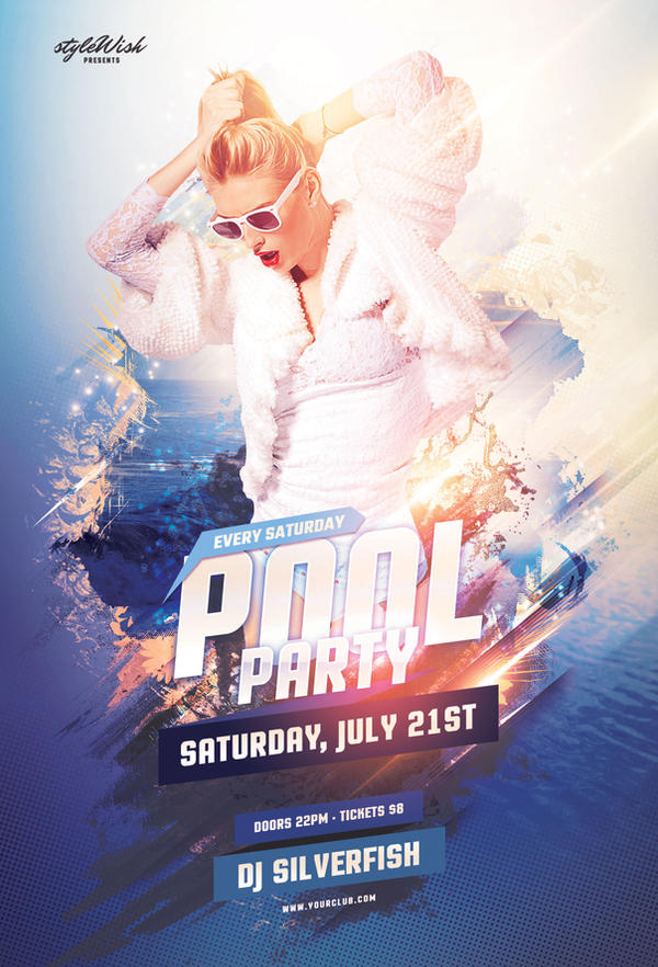 pool party flyer by stylewish on deviantart