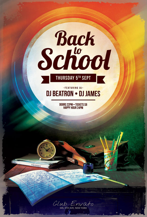 Back To School Flyer By Stylewish On Deviantart