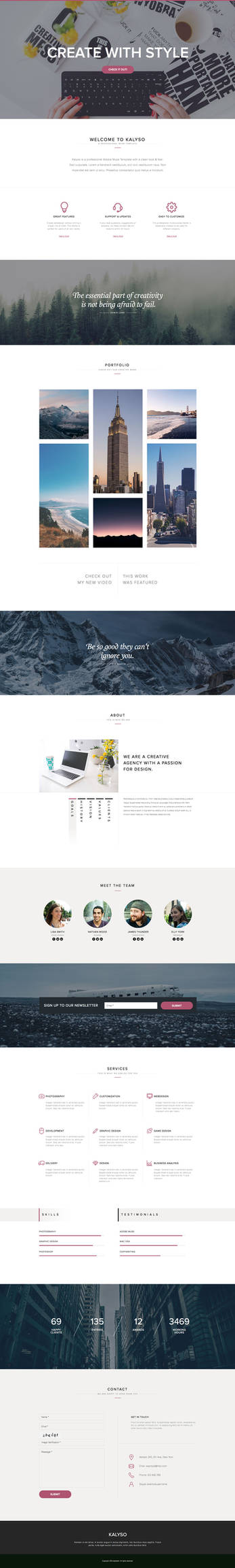 Kalyso - One Page Muse Template