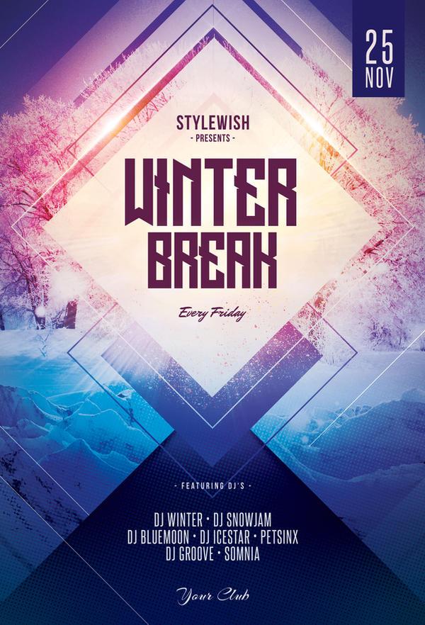winter break flyer by stylewish