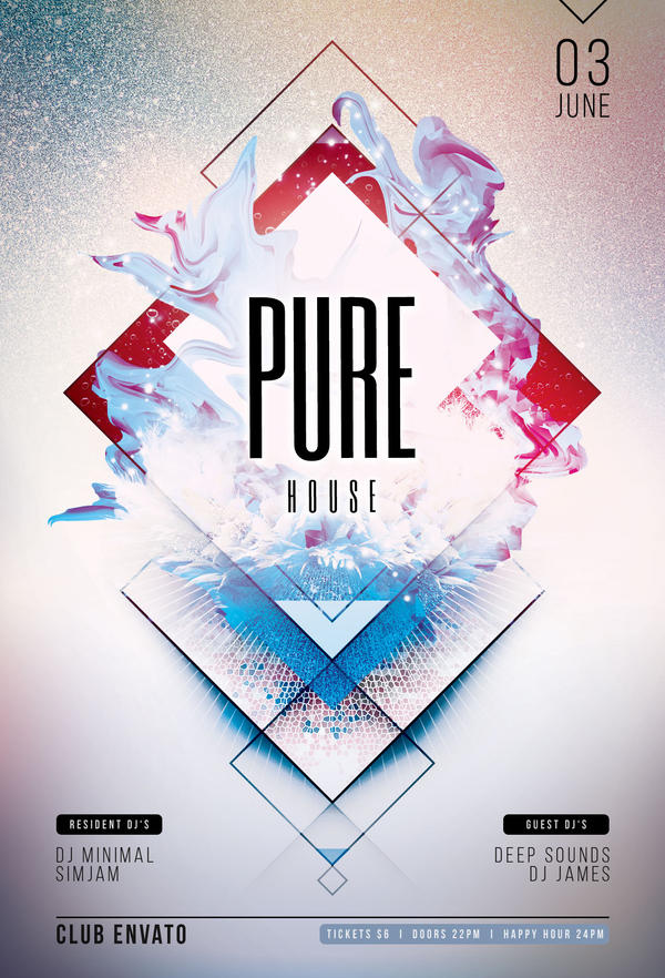 Pure House Flyer by styleWish on DeviantArt
