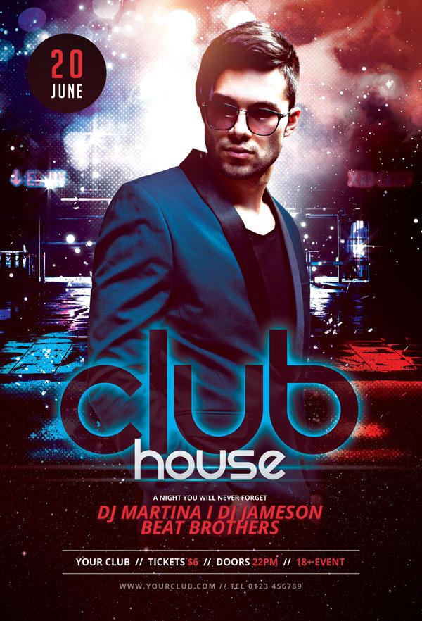 Club House Flyer By StyleWish On DeviantArt