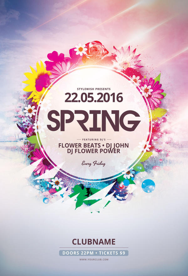Spring Flyer Template by styleWish on DeviantArt – Spring Flyer Template
