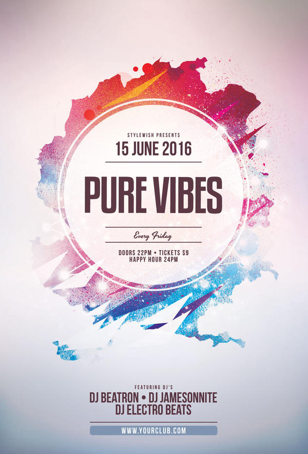 Pure Vibes Flyer by styleWish on DeviantArt
