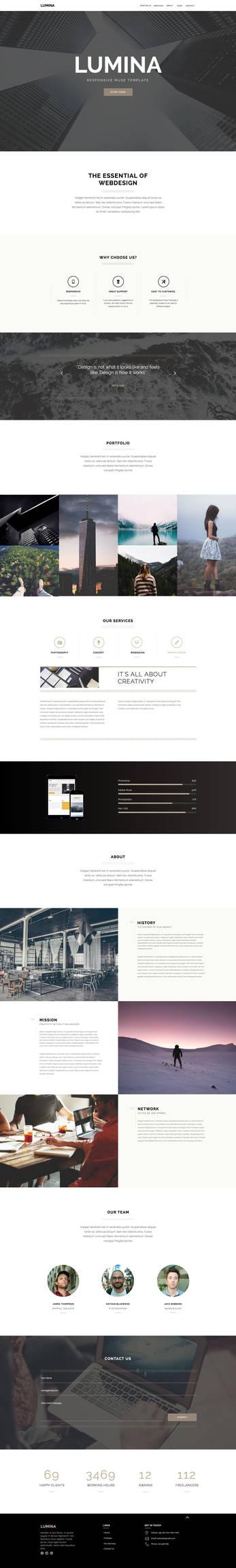 Lumina - Responsive OnePage Muse Template