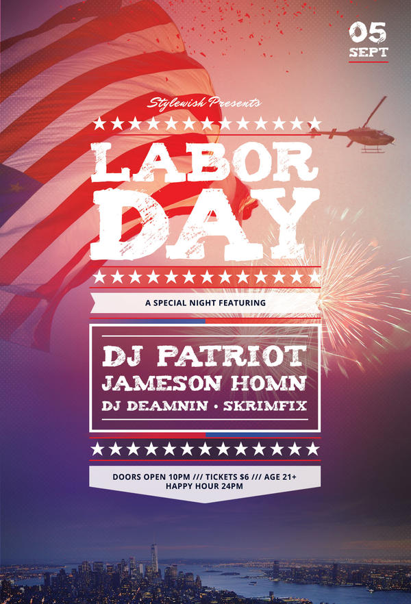 Labor Day Flyers On Flyerdesigns  Deviantart