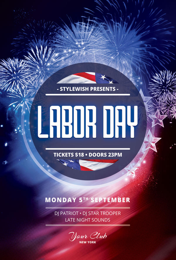 Labor Day Flyer by styleWish on DeviantArt