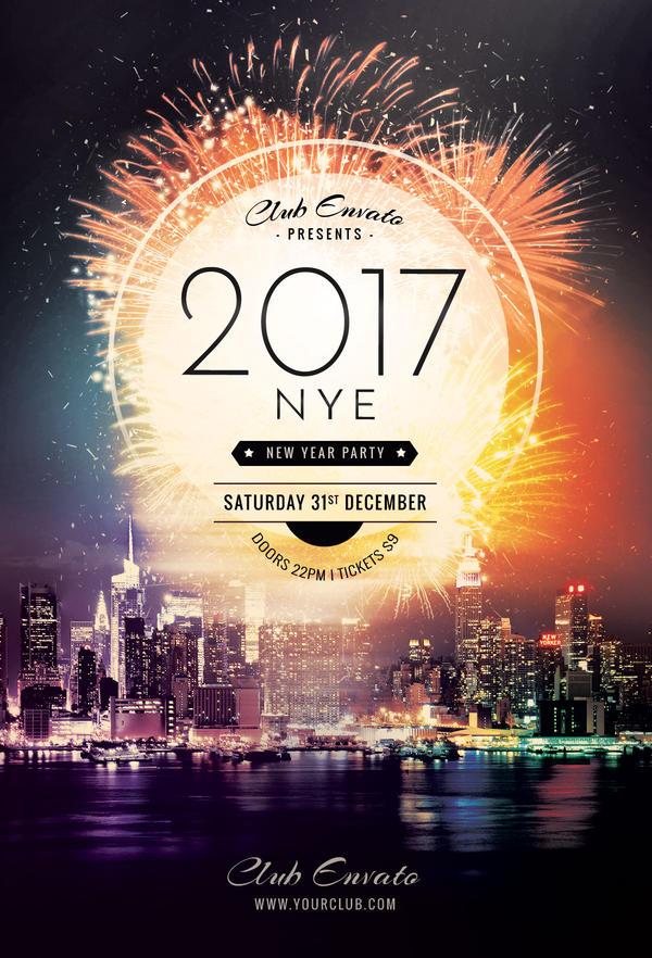 new year flyer by stylewish on deviantart