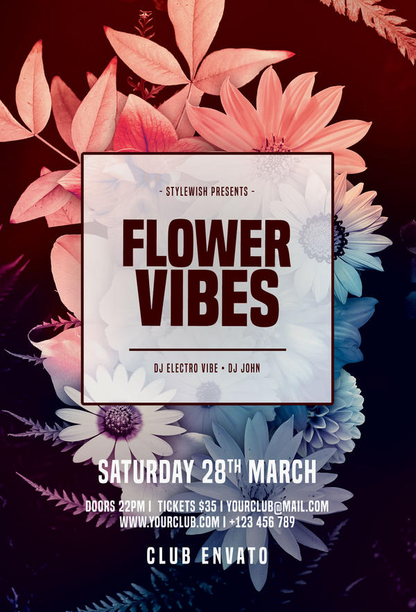 Flower Vibes Flyer by styleWish