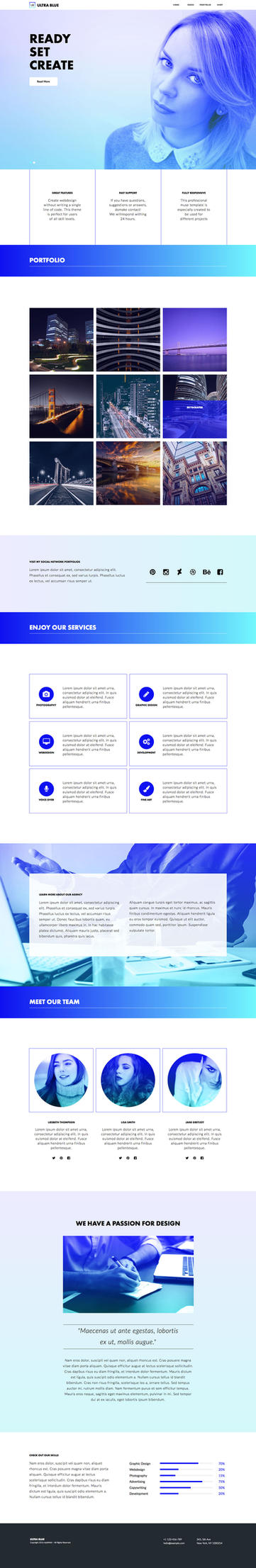 Ultra Blue - Responsive Muse Template by styleWish