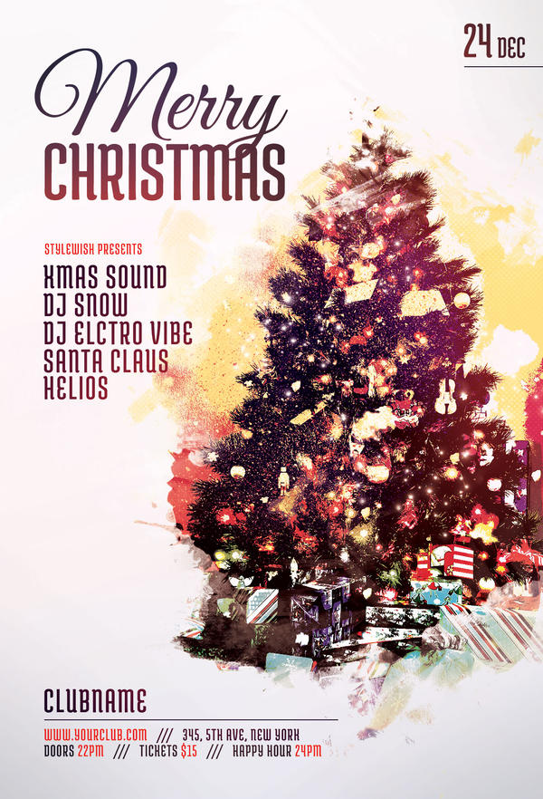 merry christmas flyer by stylewish on deviantart