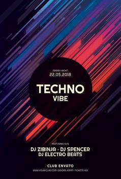 Techno Vibe Flyer