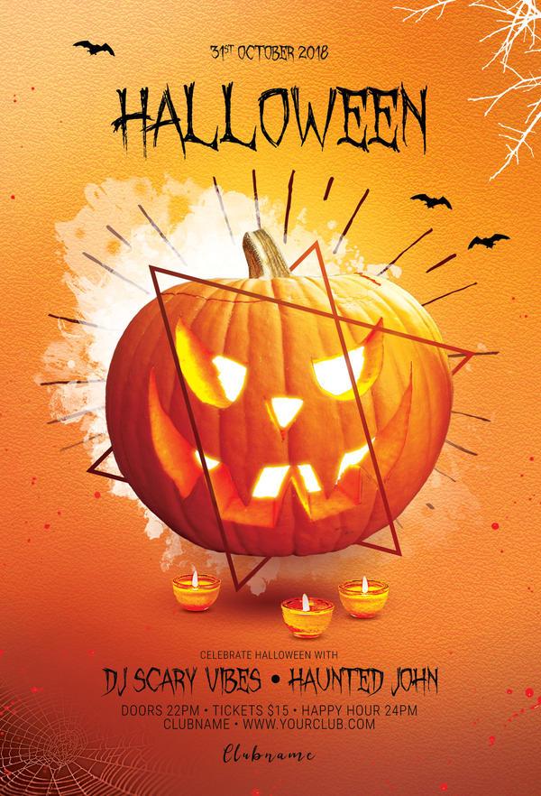 halloween flyer by stylewish on deviantart
