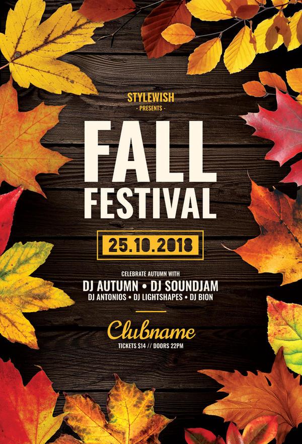 Fall Festival Flyer by styleWish