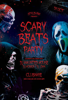Scary Beats Party Flyer