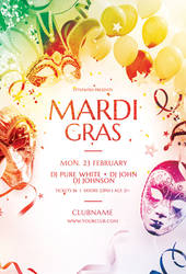 Mardi Gras Flyer by styleWish