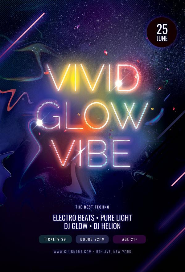 Vivid Glow Vibe Flyer
