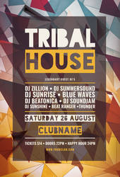 Tribal House Flyer