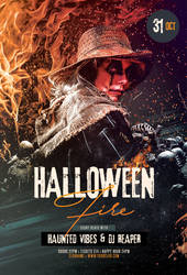 Halloween Fire Flyer