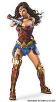 Wonder Woman Gal Gadot final with inks