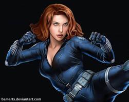 Black Widow Scarlett Johansson (detail)