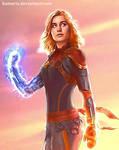 Captain Marvel Brie Larson (detail)