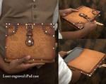 Hard Leather Clockwork Tablet Case