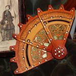 Leather and Brass Folding Fan