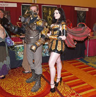 Leather Warrior Faerie Costume