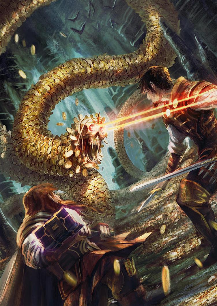 Golden snake by BGK-Bengiskhan