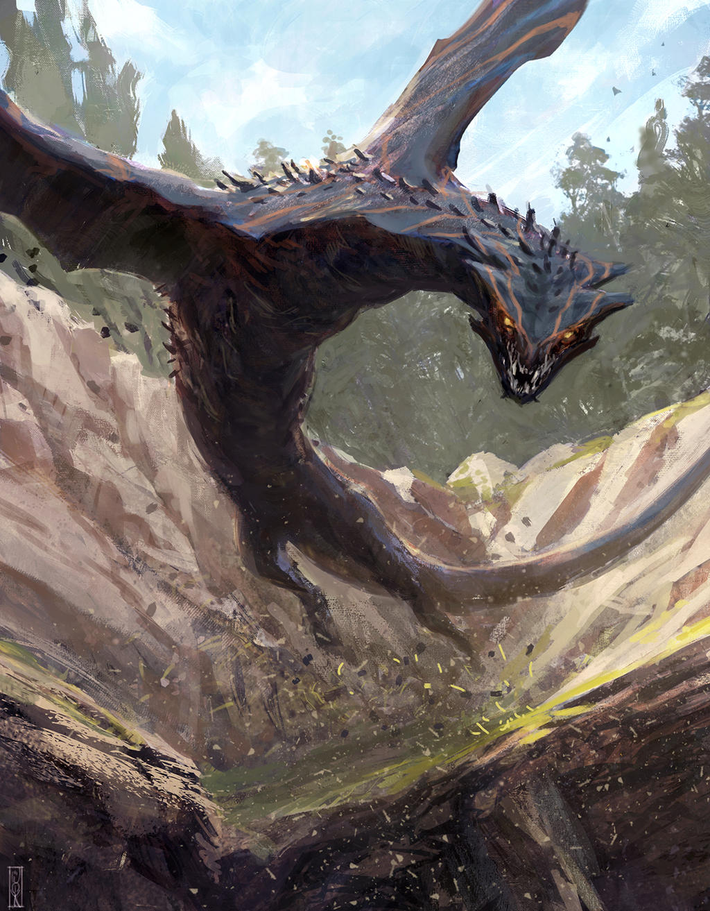 Jumping wyvern