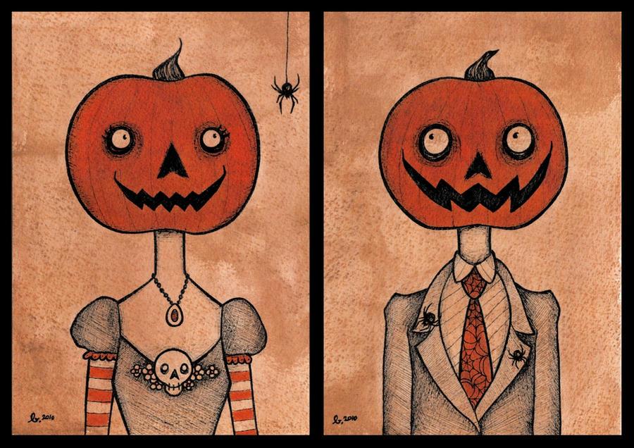 little pumpkin people. by zombiepoptarts